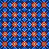 Geometric background made of squares, seamless, blue, dark. Stock Image