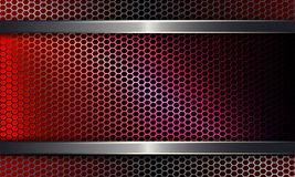 Geometric background with a metal grille of a red hue. Geometric background with metal grille of red, pink hue Royalty Free Stock Image