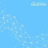 Geometric background molecule and communication Royalty Free Stock Photo