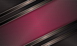 Geometric background of pink hue with metal grille. Geometric abstract background of a pink hue with a metal grille and rim Stock Photos