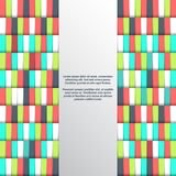 Geometric background with place for text. Vector illustration. Geometric background with place for text. Colored rectangles. Vector illustration stock illustration