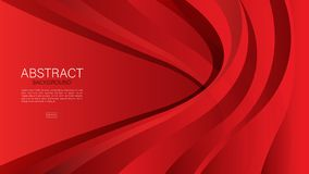 Red abstract background, wave, Geometric vector, graphic, Minimal Texture, cover design, flyer template, banner, web page, book. Cover royalty free illustration
