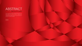 Red abstract background, wave, Geometric vector, graphic, Minimal Texture, cover design, flyer template, banner, web page, book. Cover stock illustration