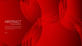 Red abstract background, wave, Geometric vector, graphic, Minimal Texture, cover design, flyer template, banner, web page, book. Cover vector illustration