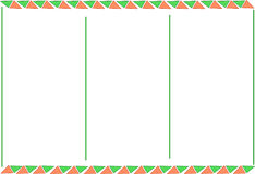 Leyout booklet red green background red green thiangles Stock Photography