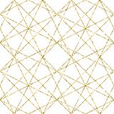 Geometric background with rhombus. Abstract pattern. Golden texture.Vector seamless geometric pattern stock illustration