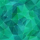 Abstract polygon background in modern style. Green turquoise color transitions create a mesh. Geometric triangular backgrounds. vector illustration