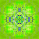Seamless centered ellipses pattern bright green blue Stock Photo