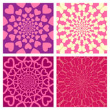 Geometric Background Set. Heart, Butterfly. Vector Stock Photo