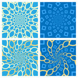 Geometric Background Set. Oriental Style. Vector Royalty Free Stock Photo