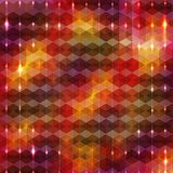 Geometric background with sparkles on edges Stock Photos
