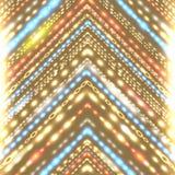 Geometric background with stylized shiny arrow. Stock Image