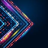 Geometric background with stylized shiny arrow. Royalty Free Stock Photos