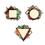 Geometric. Background to create notes, records or postcards Stock Photography