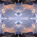 Geometric background of triangular polygons. Vector abstract polygonal symmetrical background Stock Images