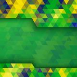 Geometric background using Brazil flag colors. Abstract geometric background, vector illustration  for your design Stock Image