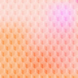 Geometric background. Vector illustration - abstract pink background with simple geometric shapes - a rhombus, hexagon, a cube with three-dimensional effect Stock Image