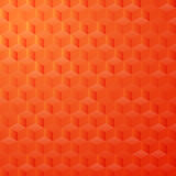 Geometric background. Vector illustration - abstract yellow and orange background with simple geometric shapes - a rhombus, hexagon, a cube with three Stock Images