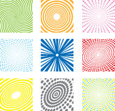 Geometric backgrounds. Set of abstract geometric colorful backgrounds vector illustration