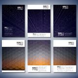Geometric backgrounds, abstract hexagonal patterns Stock Photos