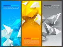 Geometric Backgrounds Collection Royalty Free Stock Photography