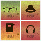 Geometric backgrounds with hipster accessories Stock Photos