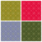 Geometric backgrounds. Seamless patterns. The collection of symmetric seamless patterns Royalty Free Stock Images