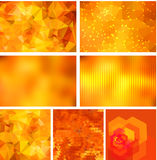 Geometric backgrounds set Stock Photo