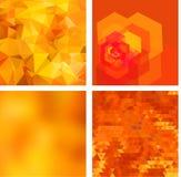 Geometric backgrounds set Stock Photography