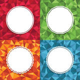 Geometric backgrounds Royalty Free Stock Images
