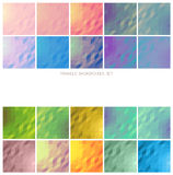 Geometric backgrounds. Vector collection of bright and gentle geometric square backgrounds of triangles, set of 20 Royalty Free Stock Photography