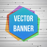 Geometric banner with hexagon elements and place for Your text. Royalty Free Stock Image