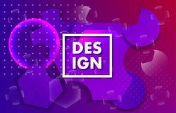 Geometric banner. Minimal design stock illustration