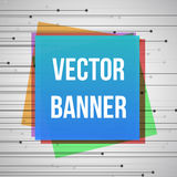 Geometric banner with square elements and place for Your text. Stock Photography