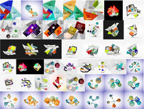 Geometric banners, templates, layouts. Paper Stock Image