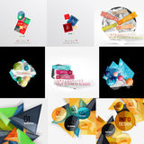 Geometric banners, templates, layouts. Paper Stock Photography