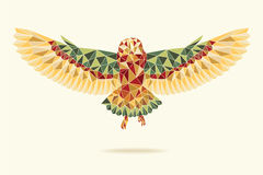Geometric barn owl flying abstract colour Royalty Free Stock Photos