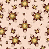 Geometric beige pattern Stock Images