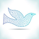 Geometric bird. Royalty Free Stock Images