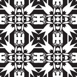 Geometric Black And White Pattern Royalty Free Stock Photo