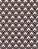 Geometric pink and black chevron seamless vector pattern tile vector illustration