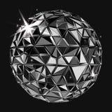 Geometric Black polygonal ball Stock Images