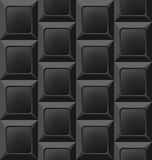 Geometric Black Seamless Pattern, Abstract Background Stock Image