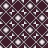 Geometric black and white abstract seamless pattern vector illustration