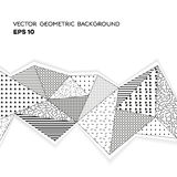 Geometric black and white background. Vector cover design for invitation, business card, poster or banner Stock Image