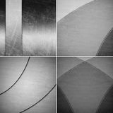 Geometric black and white backgrounds Stock Image