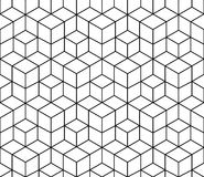 Geometric black and white graphic design print 3d cubes pattern. Abstract geometric black and white graphic design print 3d cubes pattern Stock Images
