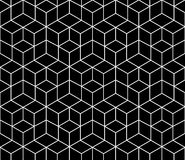 Geometric black and white graphic design print 3d cubes pattern. Abstract geometric black and white graphic design print 3d cubes pattern Royalty Free Stock Photography