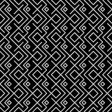 Geometric black and white hipster fashion pillow ethno pattern Royalty Free Stock Photography