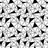 Geometric black and white hipster fashion polygon background pattern. Abstract geometric black and white hipster fashion polygon background pattern Royalty Free Stock Image